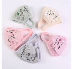 1 Piece Fashion Reusable Mouth Mask Cute Cartoon Breathable Anti-Dust Face Mask